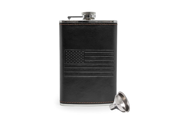 american flag flask bourbon fathers day gift