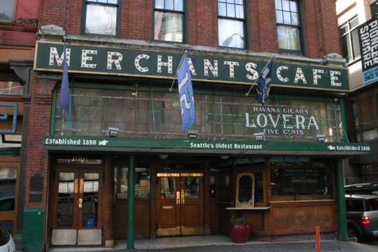 Seattle's Oldest Bar - Merchant's Cafe